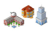 Graphic Design Contest Entry #5 for 100 isometric building designs for iPhone/Android city building game