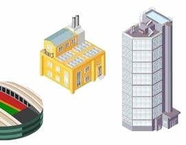#6 para 100 isometric building designs for iPhone/Android city building game de XpertDesigner007