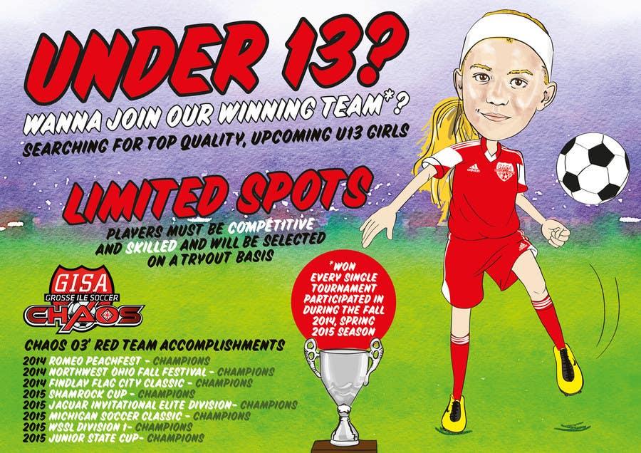 Inscrição nº 6 do Concurso para Design a Flyer for Advertisement for Soccer team