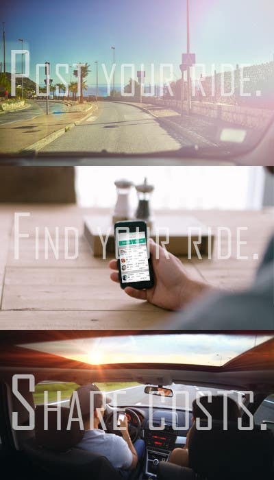 Penyertaan Peraduan #7 untuk Photos about carpooling and ridesharing