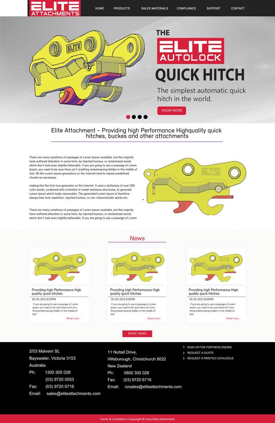 Konkurrenceindlæg #21 for Design a Website Mockup for Elite Attachments Website
