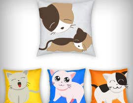 #18 untuk Print design on the cloth --cat toys square pillows oleh parikhan4i