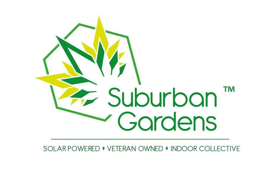 Konkurrenceindlæg #                                        90                                      for                                         Logo Design for Suburban Gardens - A solar-powered, veteran owned indoor collective