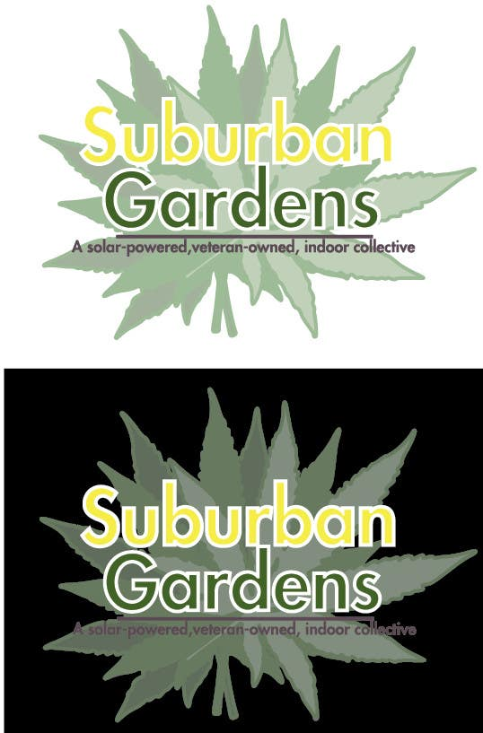 Contest Entry #                                        56                                      for                                         Logo Design for Suburban Gardens - A solar-powered, veteran owned indoor collective