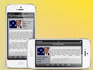 Bài tham dự #2 về Graphic Design cho cuộc thi Design an App Mockup for Webinar Text/Slide Reader