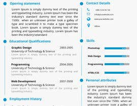 #11 for Design a CV Resume (MS WORD FORMAT) af Thanosfotn