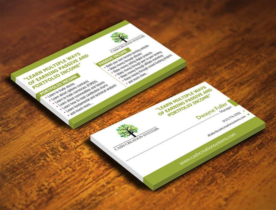 Kilpailutyö #34 kilpailussa Design some Business Cards for Cash Creation Systems