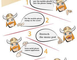 #3 untuk Re-make instructions on how to use a selfie stick oleh heitart