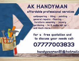 devyani16 tarafından Design some Business Cards for removals/handy man için no 7