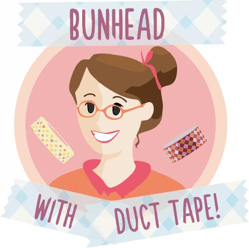 "Penyertaan Peraduan #16 untuk Design a Logo for my ""Bunhead with Duct Tape"" Website/Blog/Business Cards"