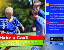 #19 for Design a 4x6 Flyer for Kids Soccer Club & Church identity cards af jeanniefreelance