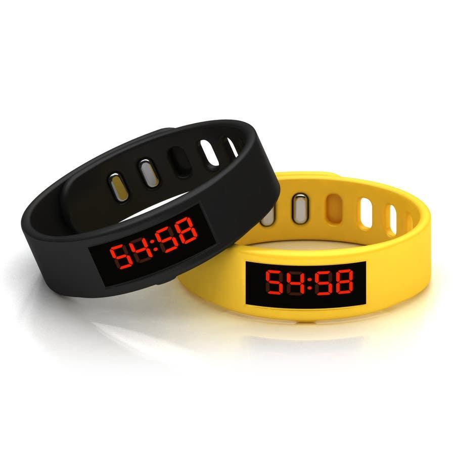 Penyertaan Peraduan #39 untuk Design me a digital counting wristband