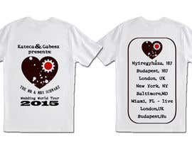 krisztianhallai tarafından Illusztráció for our private wedding t-shirt wear için no 2