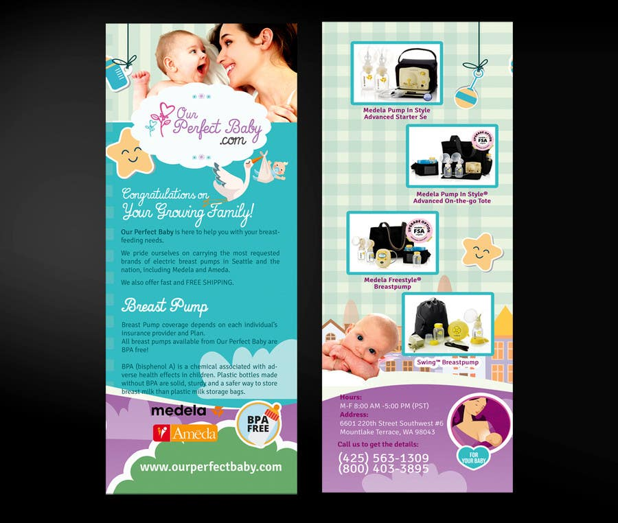 Entry By Mirandalengo For Design A TriFold BiFold Business - Tri fold business card template