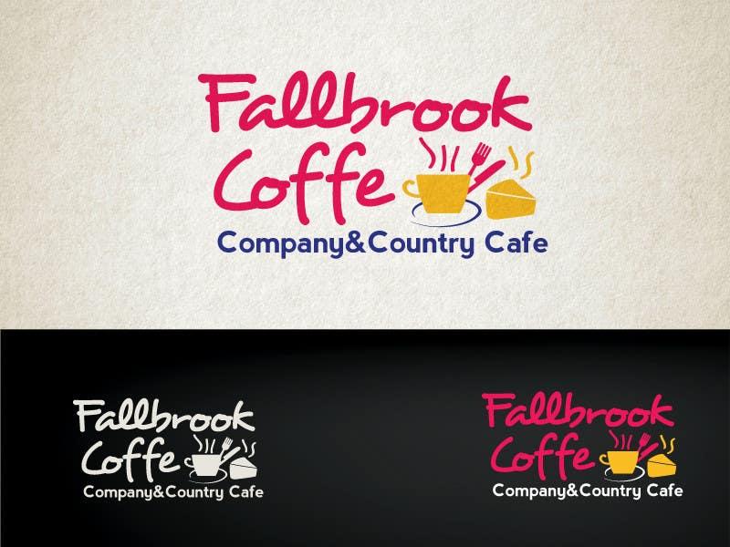 Penyertaan Peraduan #75 untuk Fallbrook Coffee Company Logo