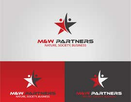 "Nro 20 kilpailuun Design a corporate logo,background,ppt template, icon for ""M&W partners"" käyttäjältä ayankarowaliya"