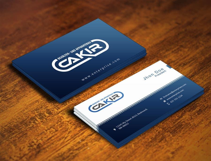 Penyertaan Peraduan #83 untuk Design of a Businesscard and a letterhead for the Company CAKIR