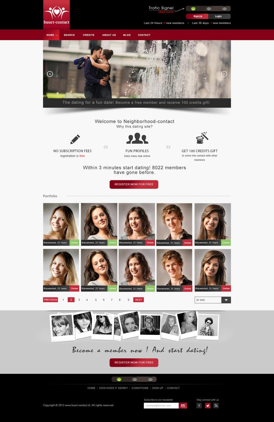 Proposition n°30 du concours Ontwerp een Website Mockup for datingwebsite