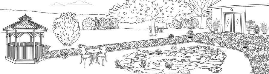 Proposition n°15 du concours J'ai besoin d'une conception graphique pour réaliser une illustration de jardin