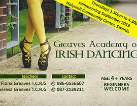 nº 8 pour Design a Flyer for new Irish Dancing school par djkn