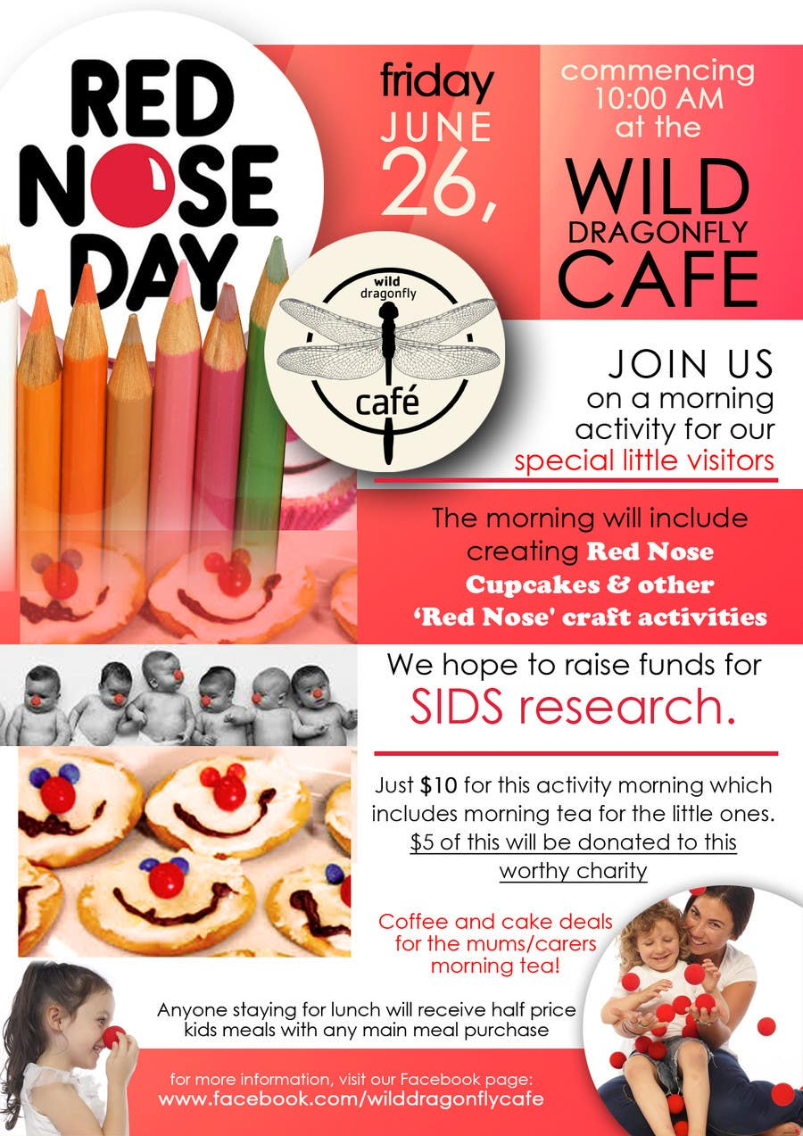 red nose day fundraising flyer lancer 13 for red nose day fundraising flyer by kimberlykaye04
