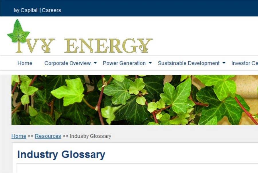Penyertaan Peraduan #241 untuk Logo Design for Ivy Energy