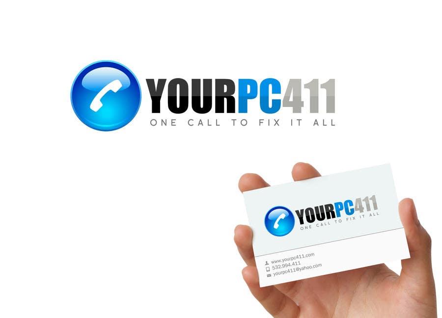 """Kilpailutyö #65 kilpailussa Design a Logo for """"Your PC 411"""""""