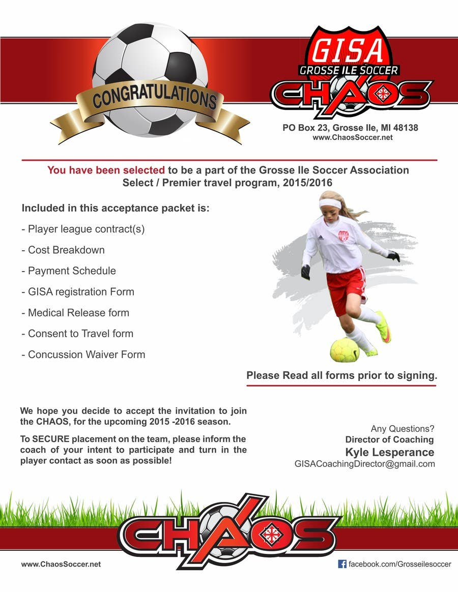 Konkurrenceindlæg #3 for Edit a Flyer for Soccer Tryout