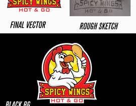 Nro 15 kilpailuun Diseñar un logotipo for: Spicy Wings HOT & GO käyttäjältä AWAIS0
