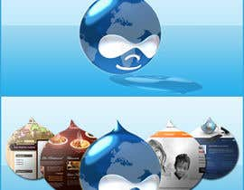 #7 para Design a Logo for Drupal Project [One] por bvsk3003