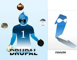 #15 para Design a Logo for Drupal Project [One] por bvsk3003