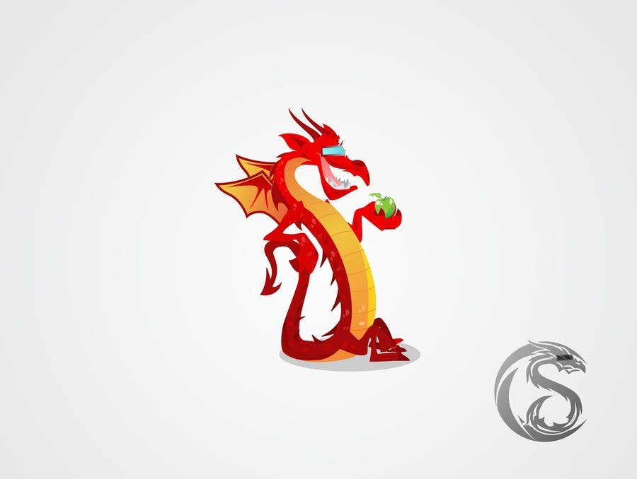 Konkurrenceindlæg #142 for Draw Friendly Dragon Character and logo