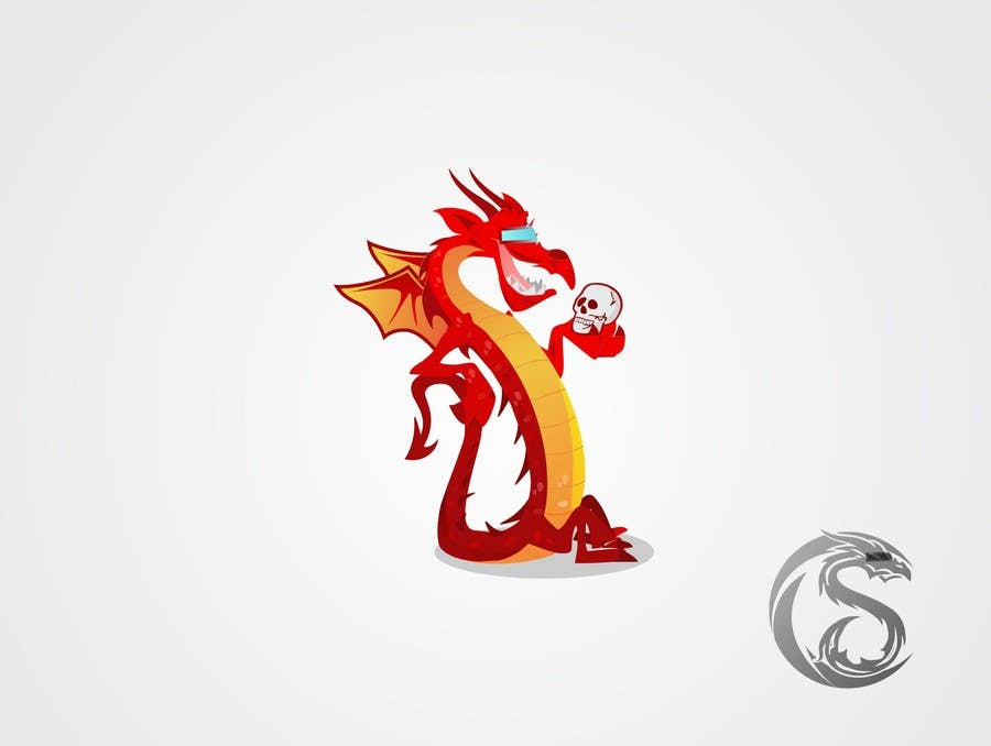 Konkurrenceindlæg #148 for Draw Friendly Dragon Character and logo