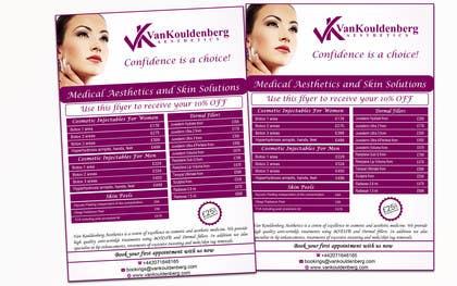 Nro 1 kilpailuun Design a Flyer for aesthetic clinic -- 2 käyttäjältä LeeniDesigns