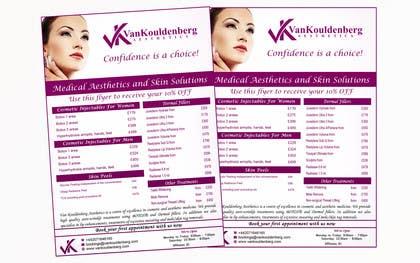 Nro 13 kilpailuun Design a Flyer for aesthetic clinic -- 2 käyttäjältä LeeniDesigns