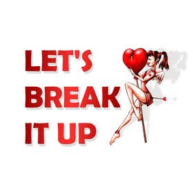 #4 for lets break it up logo af uheybaby