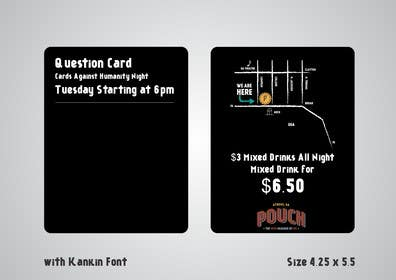 #2 untuk Design a Flyer for Cards Against Humanity Night at a Restaurant oleh artworker512
