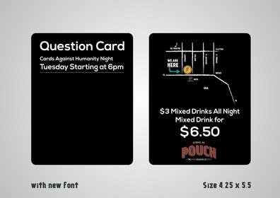 #3 untuk Design a Flyer for Cards Against Humanity Night at a Restaurant oleh artworker512