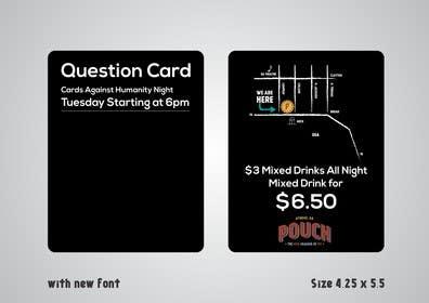 #3 for Design a Flyer for Cards Against Humanity Night at a Restaurant af artworker512