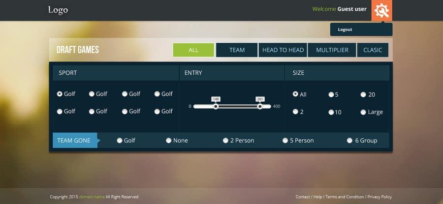 Penyertaan Peraduan #37 untuk Design a Website Mockup for  interface