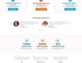 #28 untuk Design a webpage and logotype for Lawyers service oleh nikil02an