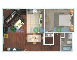 #12 for Re-draw floorplan to color 3D drawing af SDBcIndia