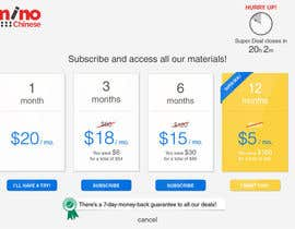 #18 para Design a subscription page por alfianrismawan