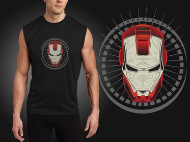 #8 for Design an ironman t shirt (helmet) af murtalawork