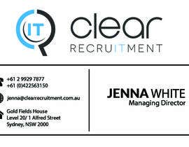 #30 untuk Recruitment Firm Business Card oleh rahulkejriwalrk