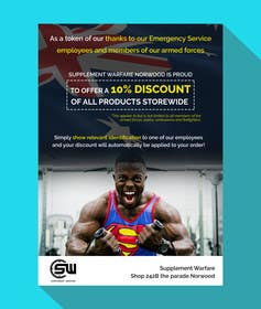 #7 untuk design a poster advertising discounts for emergency service members oleh goranjokanovic