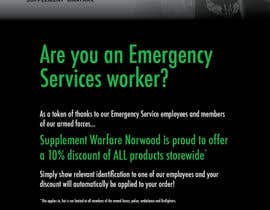 #8 untuk design a poster advertising discounts for emergency service members oleh ashleyevans86