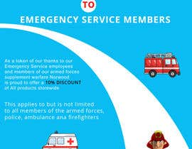 #18 for design a poster advertising discounts for emergency service members af sauravT