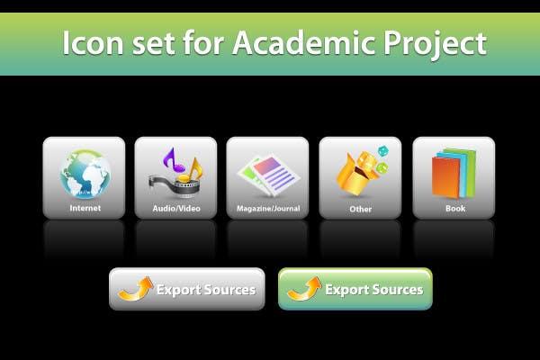 Icons Design for Academic Project için 24 numaralı Yarışma Girdisi