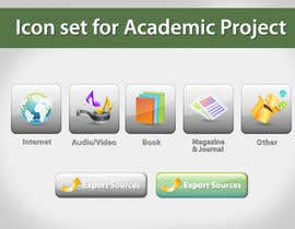 topcoder10 tarafından Icons Design for Academic Project için no 29